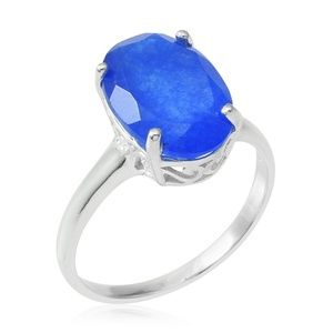 Jewelry - BLUE JADE STERLING SILVER RING